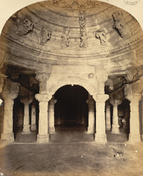 Interior of Vastupala Tejapala Temple on Girnar Hill, near Junagadh.